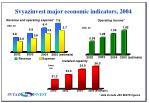 svyazinvest major economic indicators 2004