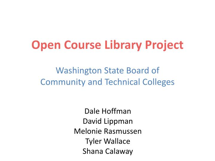 open course library project n.
