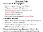 dissection tasks