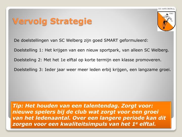 De doelstellingen van SC Welberg zijn goed SMART geformuleerd: