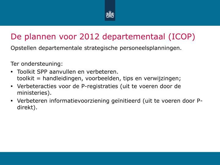 De plannen voor 2012 departementaal (ICOP)