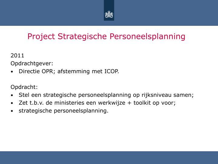 Project Strategische Personeelsplanning