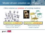 model driven creation as variation