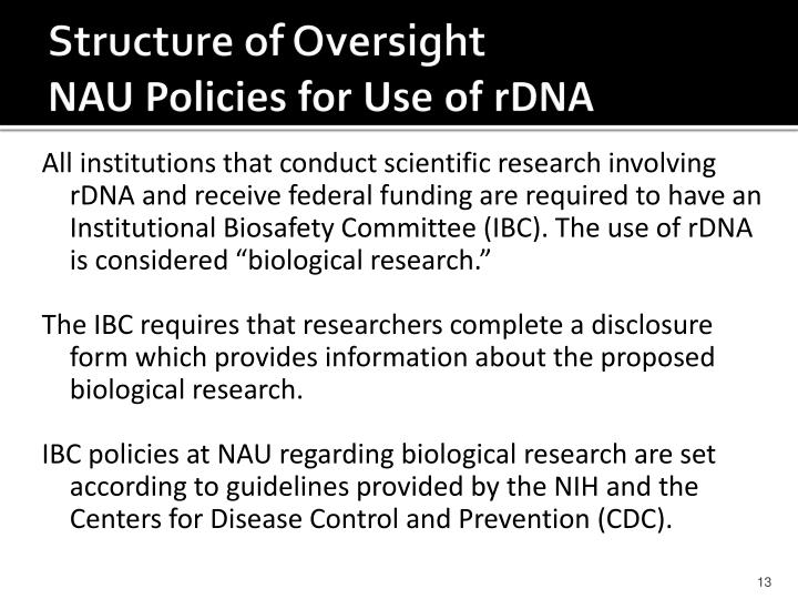 Structure of Oversight