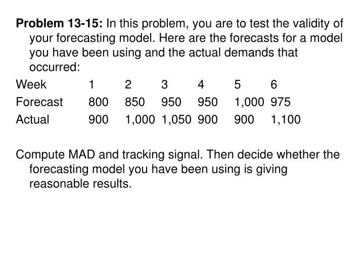 Problem 13-15: