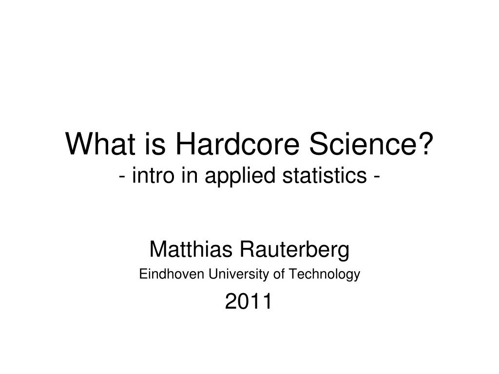 Hardcore science textbook