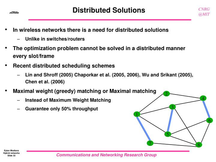 Distributed Solutions