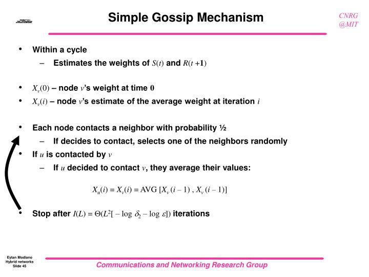 Simple Gossip Mechanism