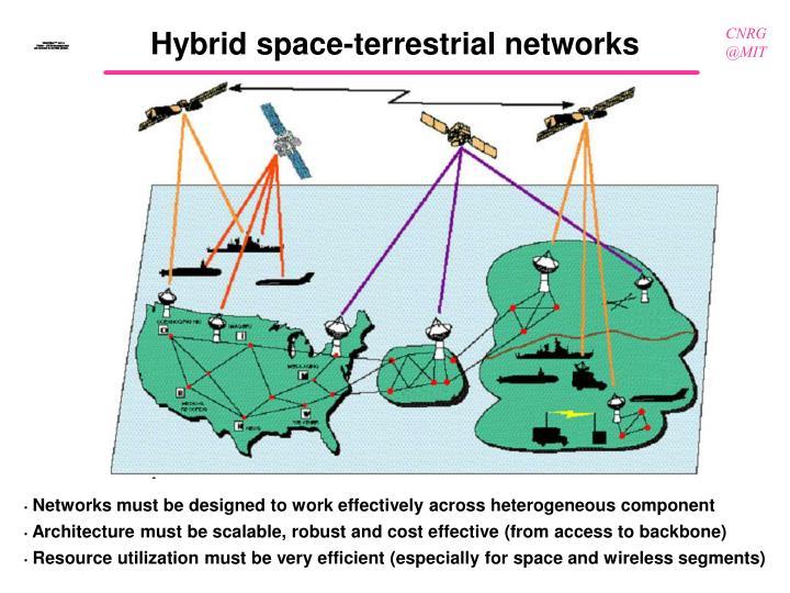 Hybrid space-terrestrial networks