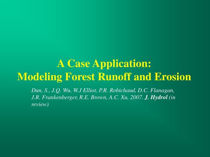 A Case Application: