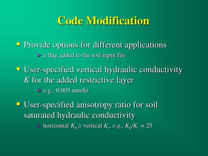 Code Modification