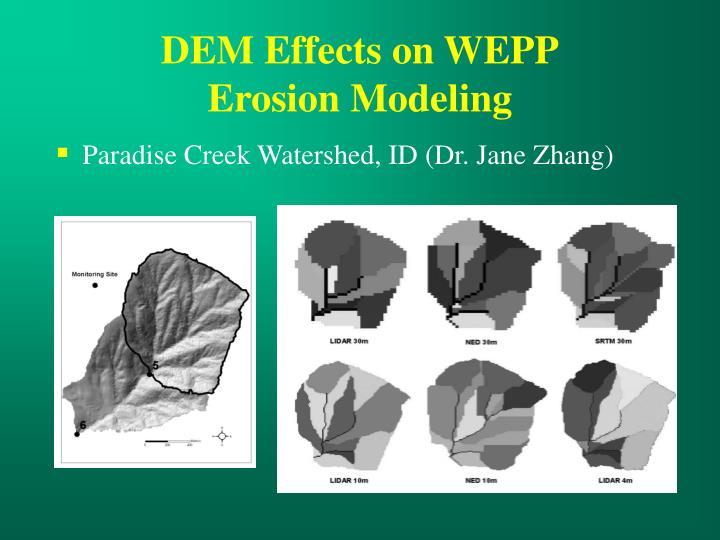 DEM Effects on WEPP
