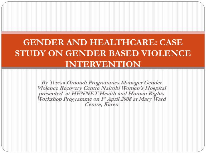 GENDER INEQUALITY; A CASE STUDY OF WOMEN UNDER ...