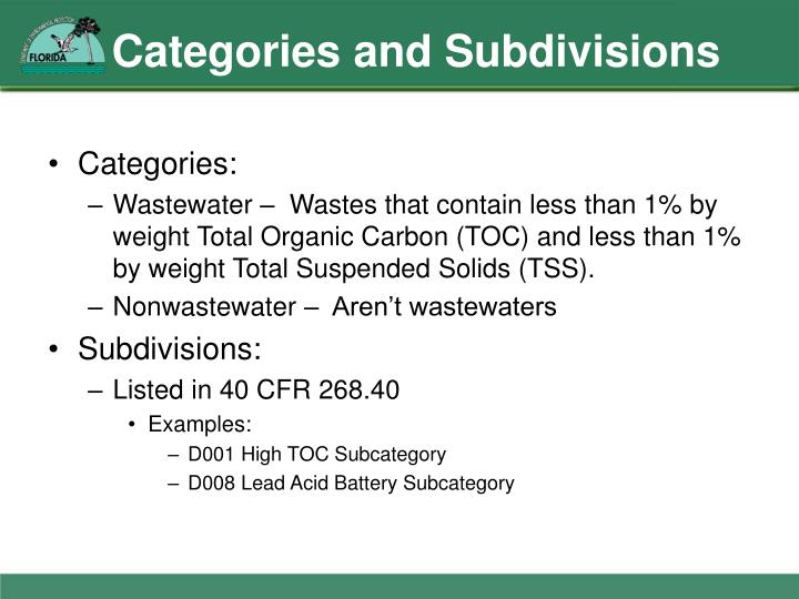 Categories and Subdivisions