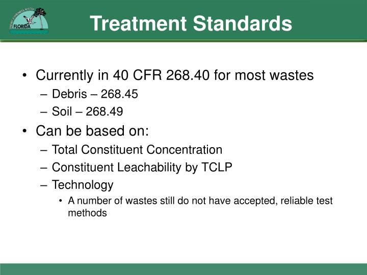 Treatment Standards