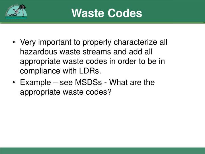 Waste Codes