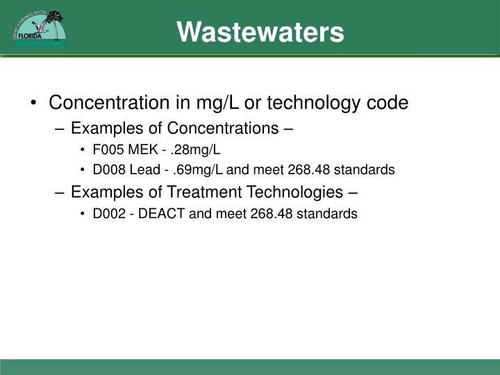 Wastewaters