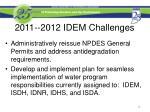 2011 2012 idem challenges