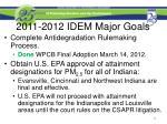 2011 2012 idem major goals