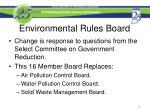 environmental rules board