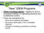 new idem programs