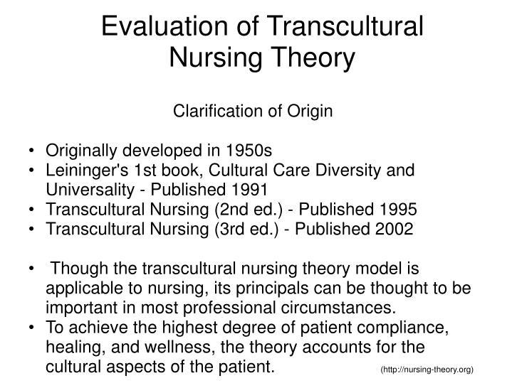 applying borrowe theory of dr leininger