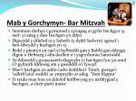 mab y gorchymyn bar mitzvah