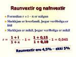 raunvextir og nafnvextir8