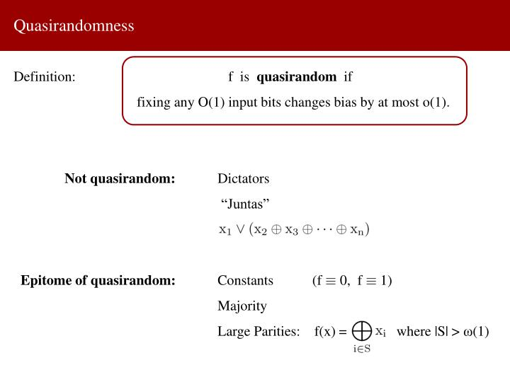 Quasirandomness