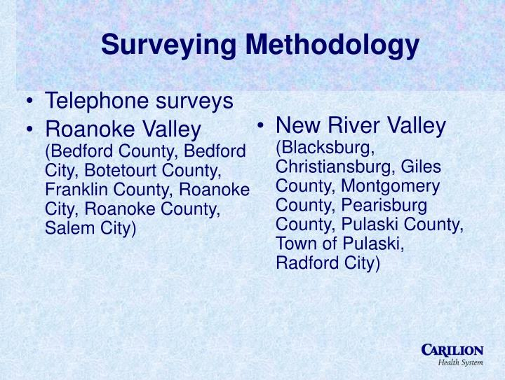 Surveying Methodology