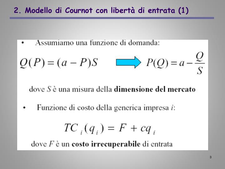 2 modello di cournot con libert di entrata 1