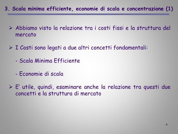 3. Scala minima efficiente, economie di scala e concentrazione (1)