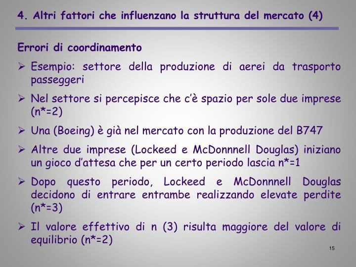 4. Altri fattori che influenzano la struttura del mercato (4)