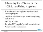 advancing rare diseases to the clinic in a united approach