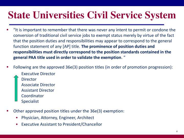 State Universities Civil Service System
