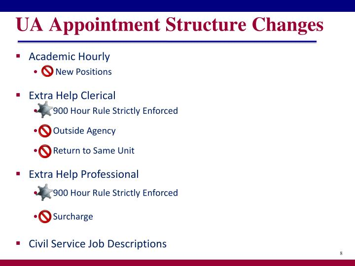 UA Appointment Structure Changes