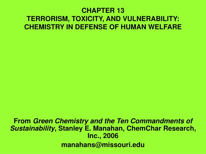 chemistry for human welfare it's promises Useful, informative and sobering, it describes a dysfunctional welfare system in which one sixth of the population of one of the richest countries in history is highly readable and thoroughly researched, this book reveals the tragic secret of our welfare state: it is hurting the people it is intended to help.
