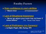fatality factors