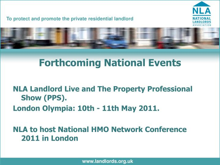 Forthcoming National Events