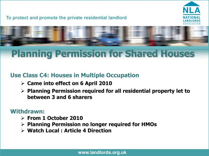 Planning Permission for Shared Houses