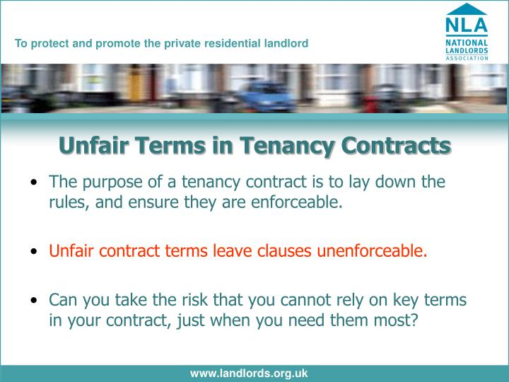 Unfair Terms in Tenancy Contracts
