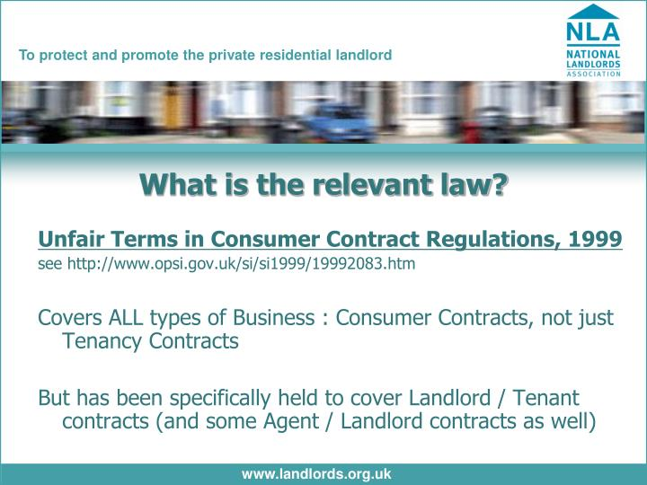 What is the relevant law?