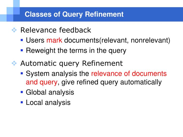 Classes of Query