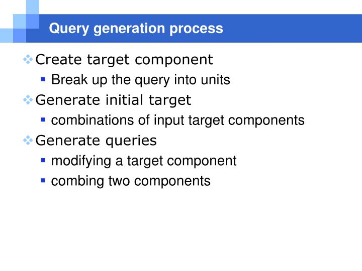 Query generation process