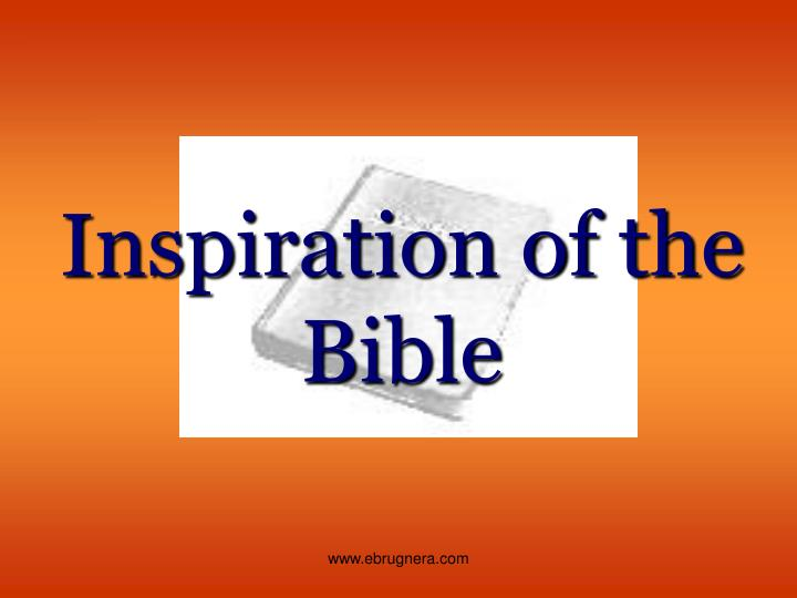 inspiration of the bible n.