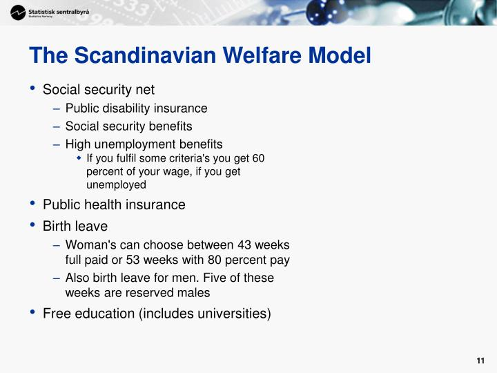 The Scandinavian Welfare Model