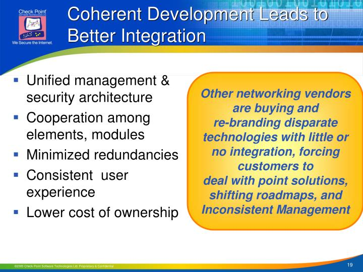 Coherent Development Leads to Better Integration
