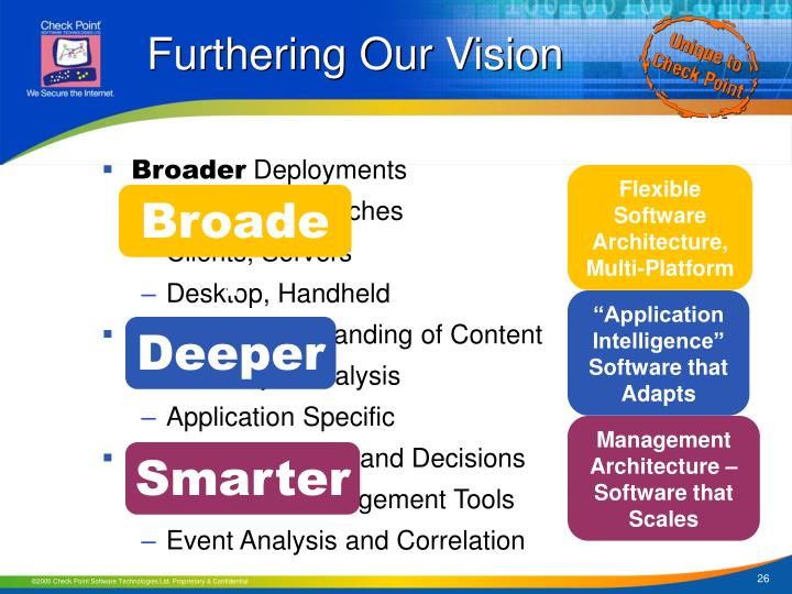 Furthering Our Vision