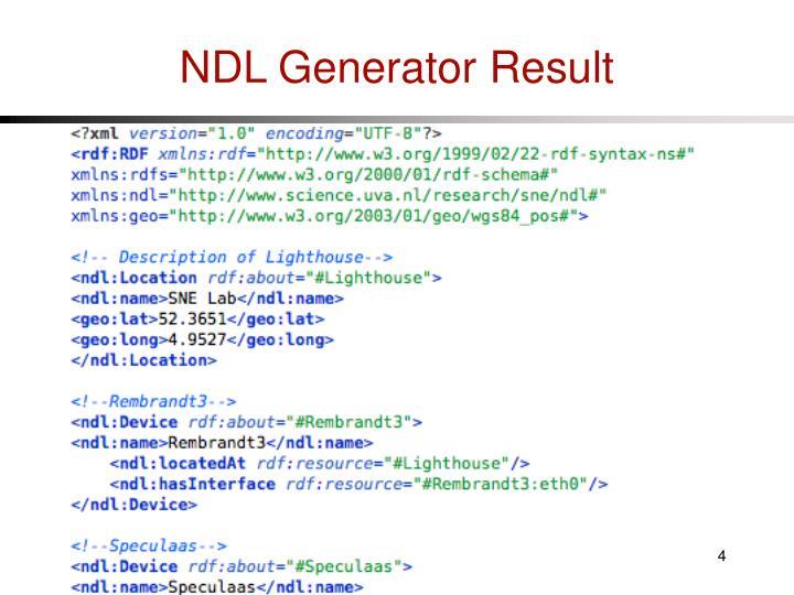 NDL Generator Result