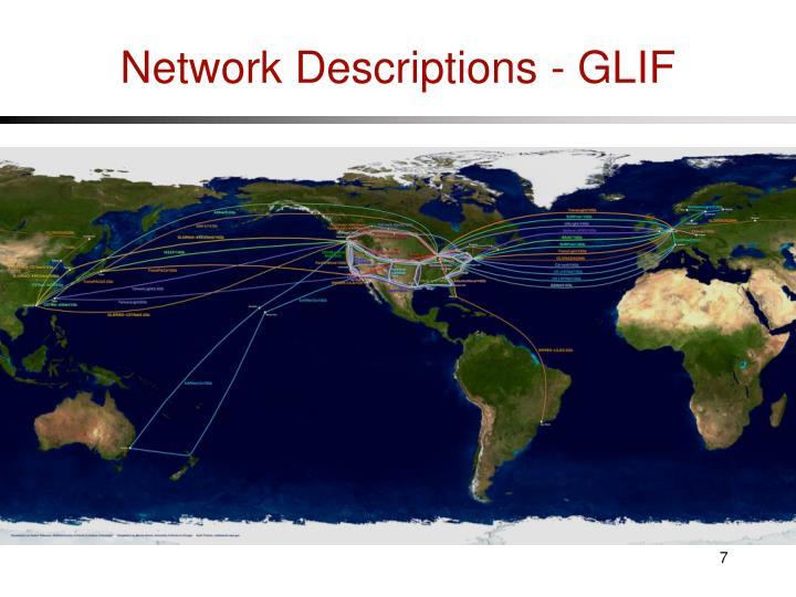 Network Descriptions - GLIF